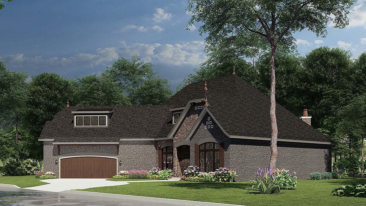 Craftsman, European House Plan 82166 with 3 Beds, 3 Baths, 2 Car Garage Picture 1