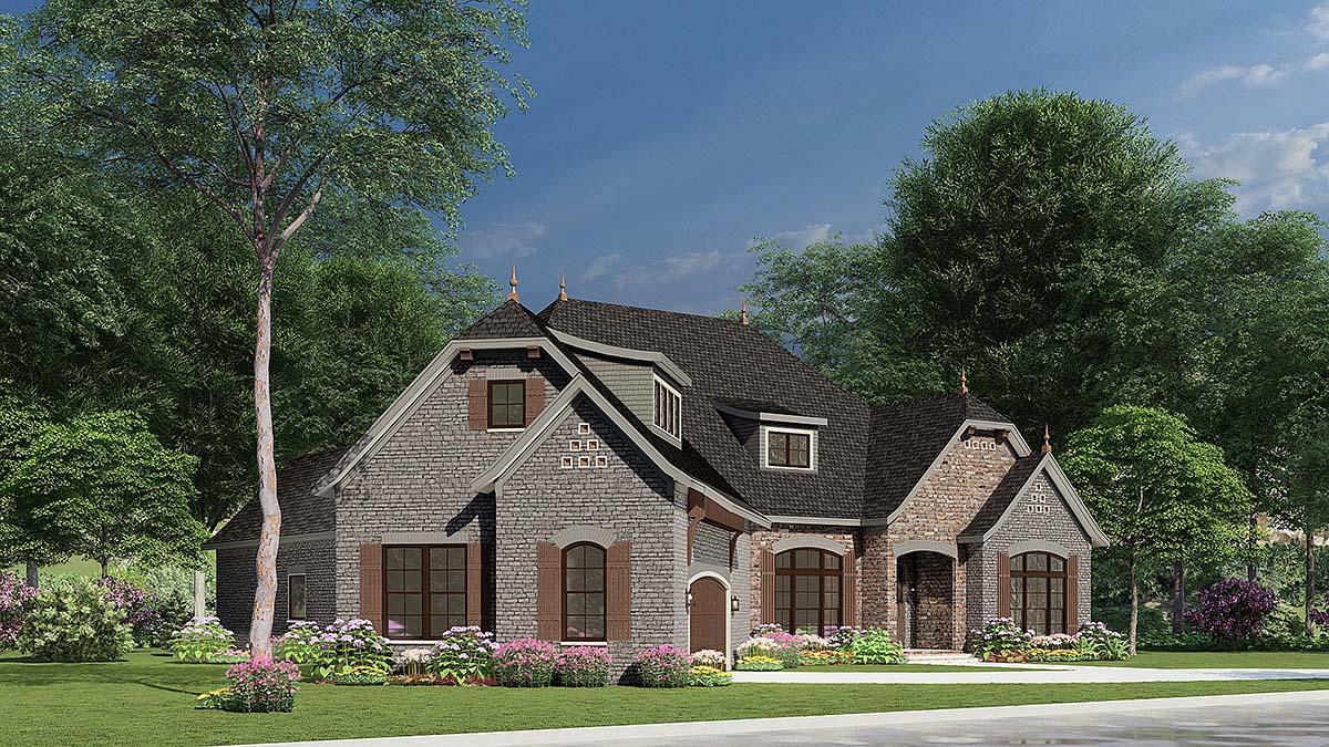 Craftsman, European House Plan 82166 with 3 Beds, 3 Baths, 2 Car Garage Picture 2