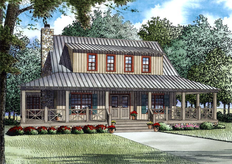 click here to see an even larger picture country farmhouse house plan