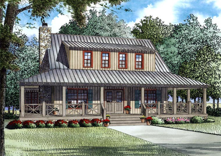 Country Farmhouse House Plan 82167 Elevation