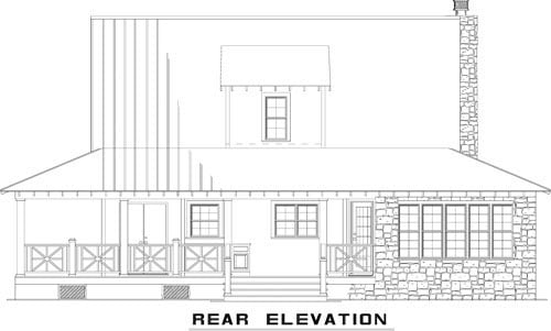 Country Farmhouse House Plan 82167 Rear Elevation