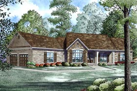 House Plan 82168 | Traditional Style Plan with 2279 Sq Ft, 3 Bedrooms, 3 Bathrooms, 2 Car Garage Elevation