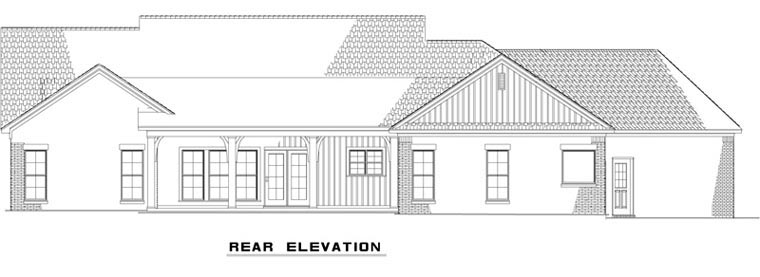 Traditional House Plan 82168 Rear Elevation