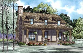 Country Farmhouse Southern Traditional House Plan 82169 Elevation