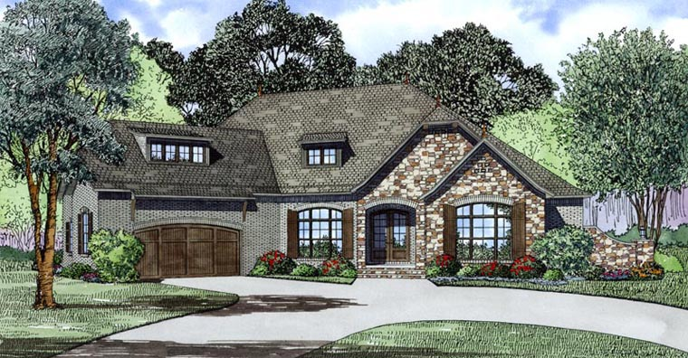 Craftsman European House Plan 82170 Elevation