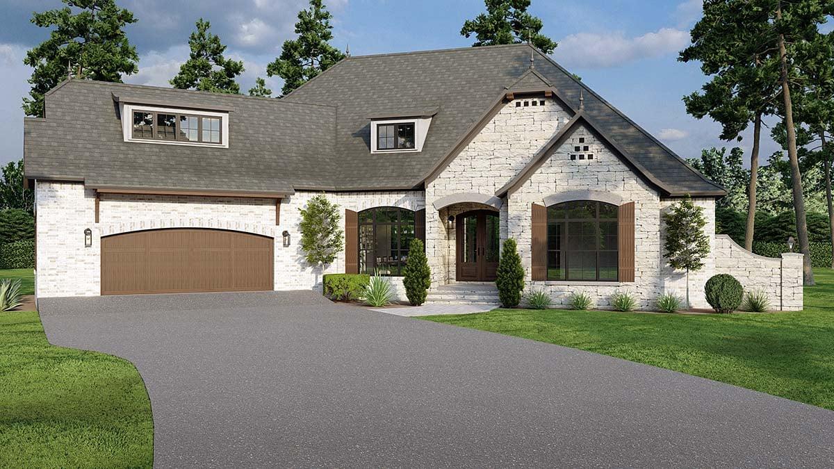 Craftsman European House Plan 82170 Elevation