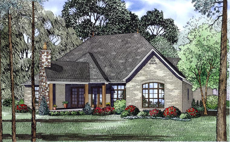 Craftsman European House Plan 82170 Rear Elevation