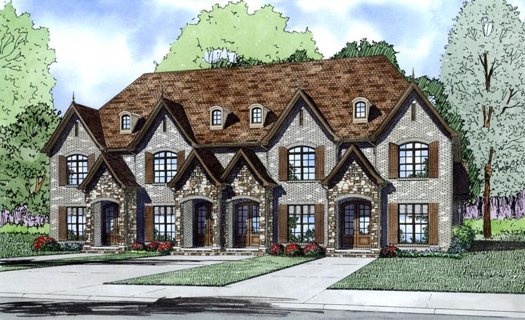 Tudor Multi-Family Plan 82172 Elevation