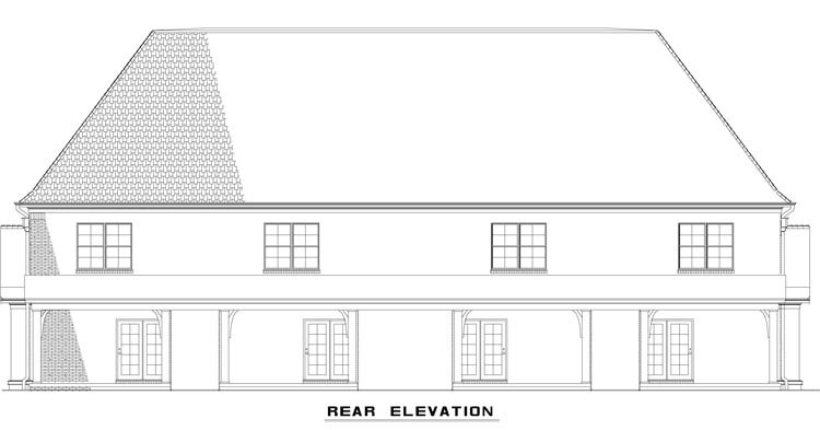 Tudor Multi-Family Plan 82172 Rear Elevation