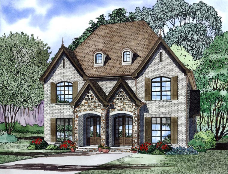 Tudor Multi-Family Plan 82173 Elevation