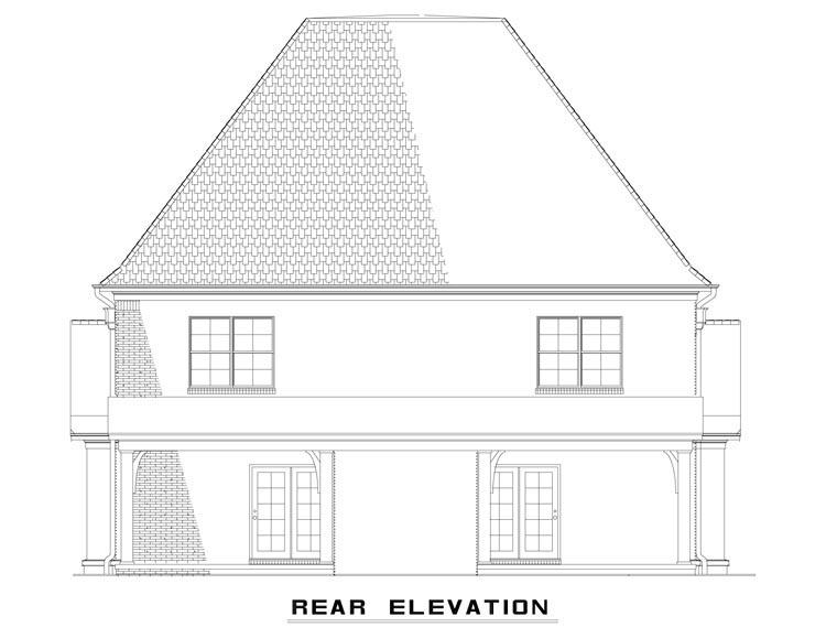 Tudor Multi-Family Plan 82174 Rear Elevation