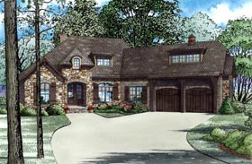 Contemporary House Plan 82176 with 4 Beds, 3 Baths, 2 Car Garage Elevation