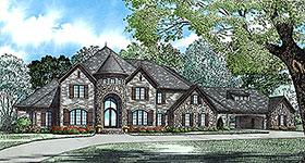 European Tudor House Plan 82177 Elevation