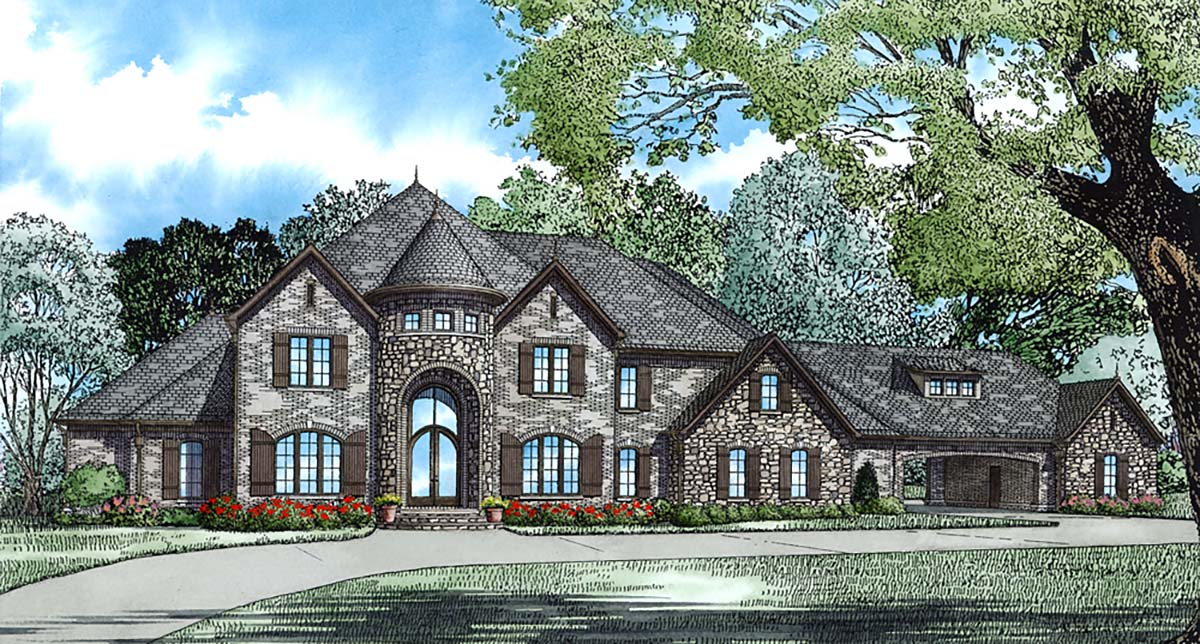 European Tudor House Plan 82177 Elevation