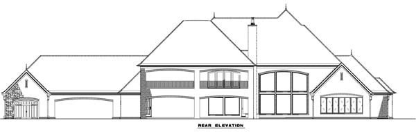 European Tudor House Plan 82177 Rear Elevation