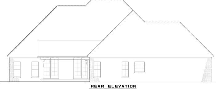 Traditional House Plan 82179 Rear Elevation
