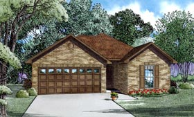 House Plan 82180 with 3 Beds, 3 Baths, 2 Car Garage Elevation