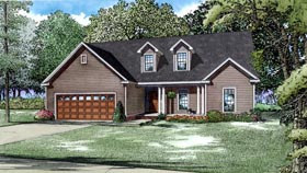 House Plan 82185 | Style Plan with 1791 Sq Ft, 3 Bedrooms, 3 Bathrooms, 2 Car Garage Elevation