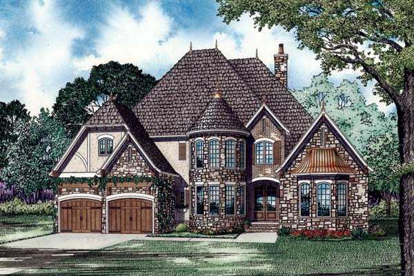 European House Plan 82188 Elevation