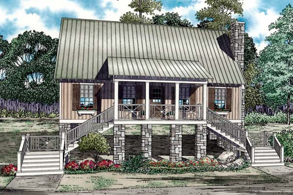 House Plan 82190 with 3 Beds, 2 Baths Elevation