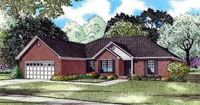 House Plan 82196 with 4 Beds, 2 Baths, 2 Car Garage Elevation