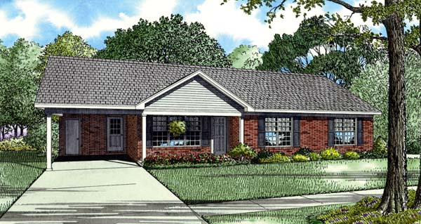 House Plan 82200 with 3 Beds, 2 Baths Elevation