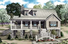 Coastal Cottage Southern House Plan 82202 Elevation