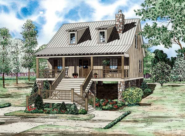 Cape Cod Coastal Country House Plan 82203 Elevation