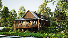 House Plan 82206 with 3 Beds, 3 Baths Elevation