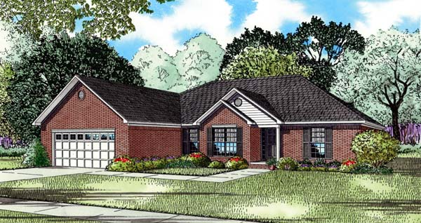 House Plan 82207 with 3 Beds, 2 Baths, 2 Car Garage Elevation
