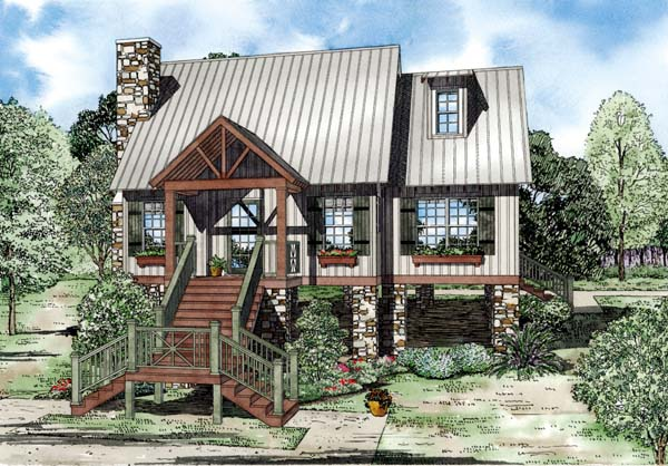 House Plan 82209 with 2 Beds, 2 Baths Elevation