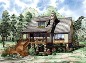 House Plan 82210 | Style Plan with 1542 Sq Ft, 2 Bedrooms, 2 Bathrooms Elevation