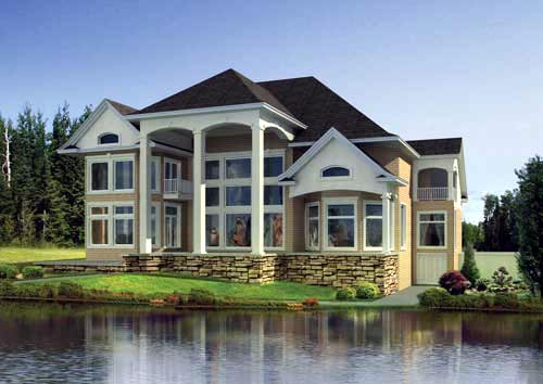 House Plan 82212 Rear Elevation