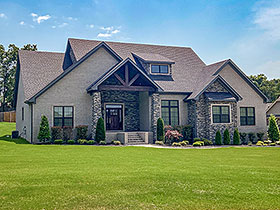 House Plan 82216 | Style Plan with 3206 Sq Ft, 4 Bedrooms, 4 Bathrooms, 3 Car Garage Elevation