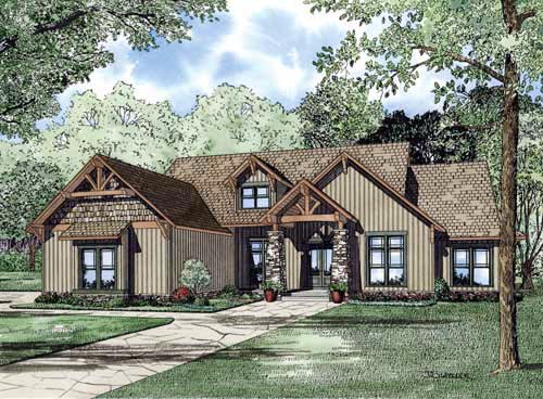 Traditional House Plan 82218 with 4 Beds, 3 Baths, 3 Car Garage Elevation