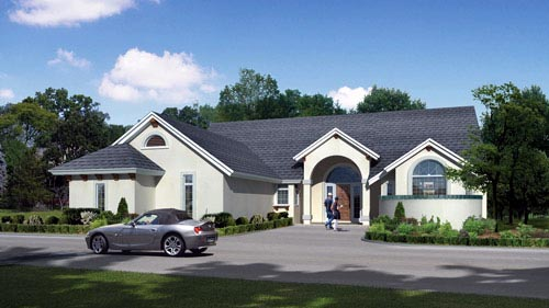 House Plan 82221 with 3 Beds, 2 Baths, 2 Car Garage Elevation