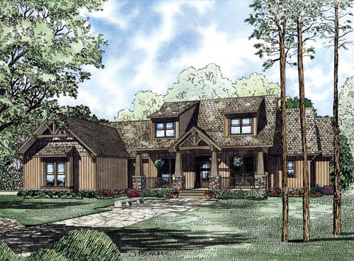 Craftsman Ranch House Plan 82222 Elevation