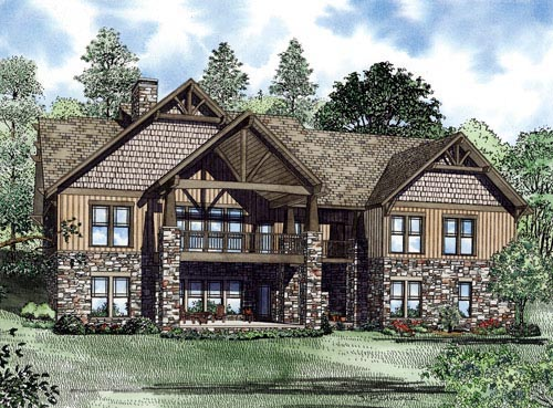 Craftsman Ranch House Plan 82222 Rear Elevation