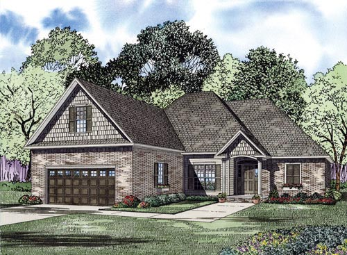 Craftsman European Elevation of Plan 82224