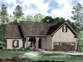House Plan 82226 | Style Plan with 1622 Sq Ft, 3 Bedrooms, 2 Bathrooms, 2 Car Garage Elevation