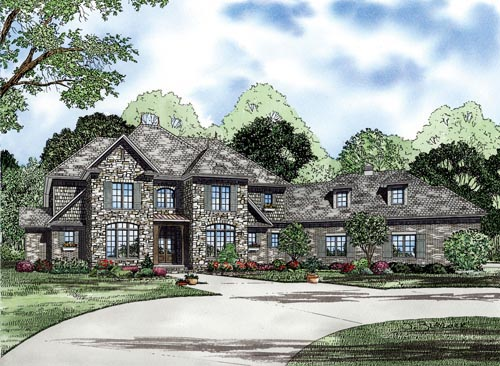 House Plan 82228 with 4 Beds , 4 Baths , 3 Car Garage Elevation