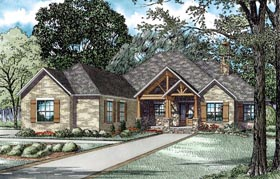 House Plan 82229 with 3 Beds, 3 Baths, 3 Car Garage Elevation