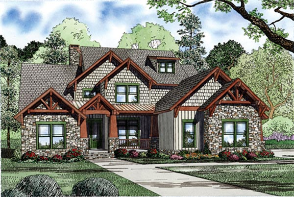 European House Plan 82231 Elevation