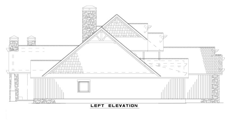 European House Plan 82231 with 4 Beds, 3 Baths, 3 Car Garage Picture 1