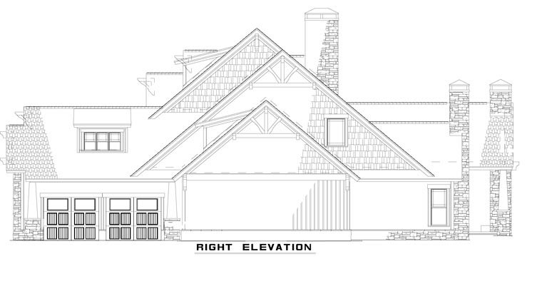 European House Plan 82231 with 4 Beds, 3 Baths, 3 Car Garage Picture 2