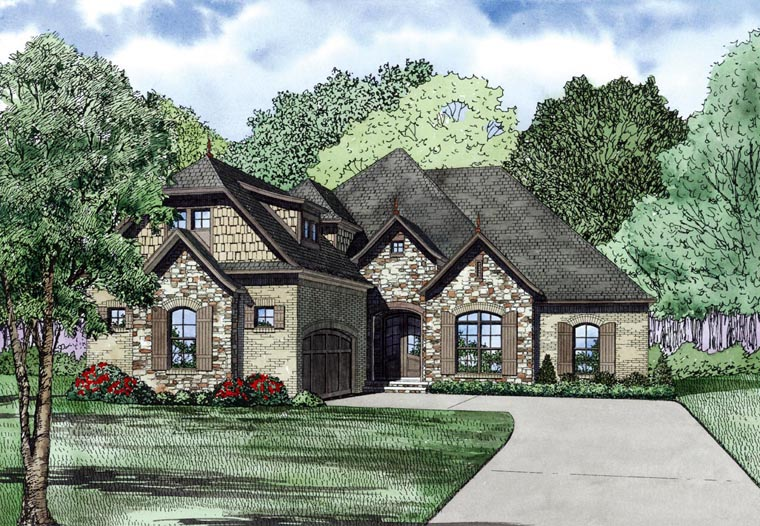 House Plan 82233 with 3 Beds, 2 Baths, 2 Car Garage Front Elevation