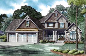 Craftsman European House Plan 82235 Elevation