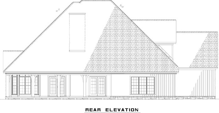 Craftsman European House Plan 82235 Rear Elevation