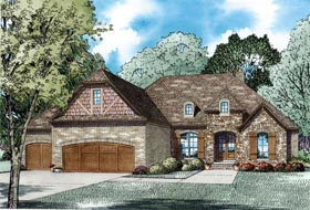 Craftsman European French Country House Plan 82236 Elevation