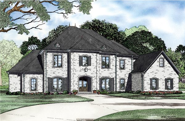 European House Plan 82238 Elevation